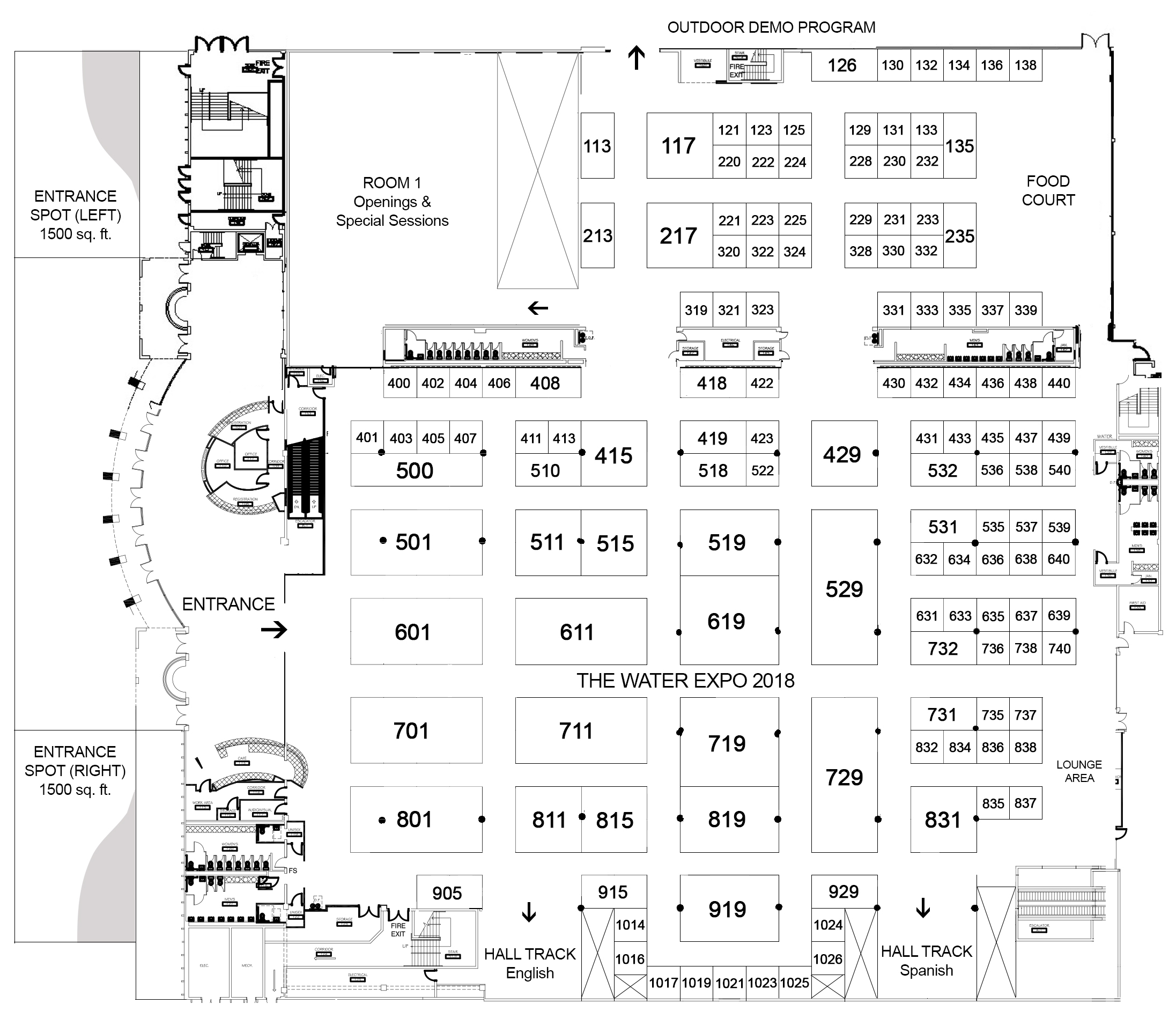 The water expo for Floor plan agreement